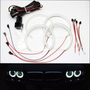 Angel Eyes Halo Rings 4x 131mm for BMW E39 E46  White Headlight With Projector
