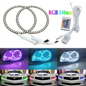 Excellent RGB Multi-Color Halo Rings 140mm Car Styling Angel Eyes Remote Control
