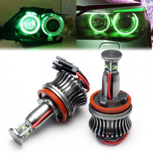 Green H8 LED Angel Eyes Halo Ring Marker Bulbs for BMW E64 E84 X1 X5 X6 Z4
