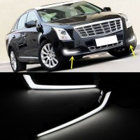 2x White LED Daytime Running Lights DRL Fog Lamp Fit for Cadillac XTS 2013-2016