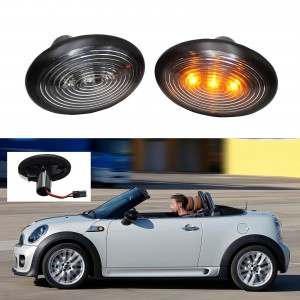 Smoke LED Side Marker Light For 2006-2014 MINI Cooper MKII R55 R56 R57 R58 R59