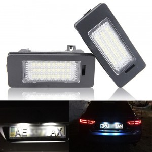 2x Error Free LED License Plate Light Lamp For Audi A4 B8 A5 S5 TT Q5 PASSAT R36
