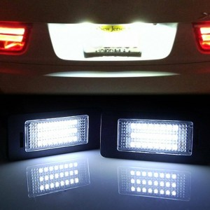 2Pcs 24 LED Error Free License Plate Light For BMW E90 E92 E93 F30 F32 E60 M3 X5