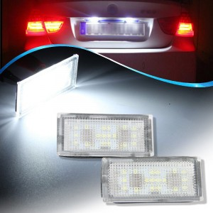 18SMD LED License Plate Lights Error-Free Bulbs for BMW E66 E65 7 Series 735i