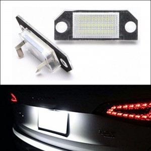 24-SMD LED Number Plate Lights For Ford Focus MK2 C-MAX Rear License Plate Lamps