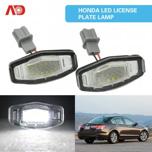 18LED License Plate Light Number Plate Lamp For Acura TSX MDX Honda Civic Accord