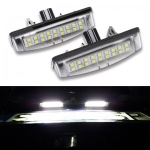 18SMD Led License Plate Light Bulbs for TOYOTA Camry Aurion LEXUS MITSUBISH 2x