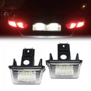 12V White LED License Plate Light for Peugeot Citroen Tepee B9 Partner Berlingo