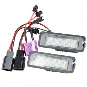 24-SMD LED License Lights For VW Golf 6 VI 5 V GTI Seat Leon Altea Tail Lamps 2x