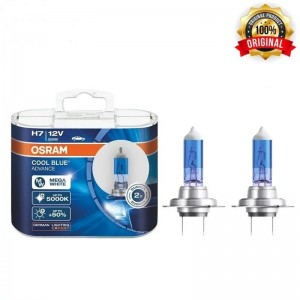 Genuine Osram Cool Blue Advance H7 5000K Headlight Halogen Bulbs 62210CBA