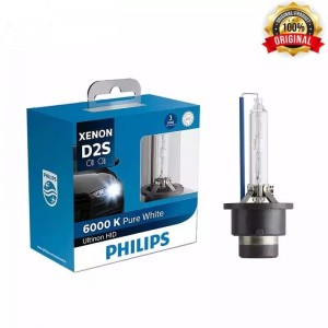 Genuine Philips Ultinon HID Xenon D2S 6000k White 2 Bulbs Pack