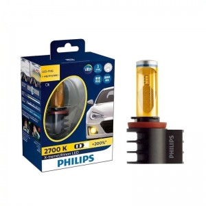 Genuine Philips X-treme Ultinon H8, H11, H16 Pair Turbo LED Headlight OEM 2700K