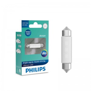 Philips LED Fest Festoon 43mm Ultinon Cool Blue White Reading Lamp 11864ULW