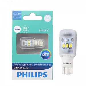 PHILIPS T16 W16W 921 Ultinon LED 6000K White Back Up Reverse Light Bulb