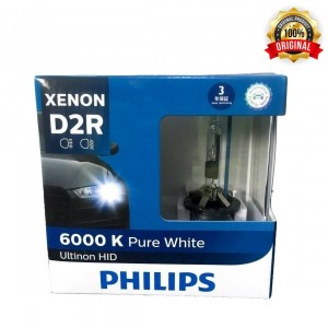 Genuine Philips Ultinon HID Xenon D2R 6000k White 2 Bulbs Pack Made In Germany