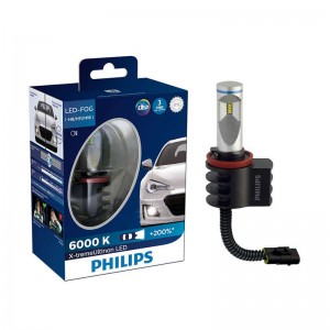 Philips 12834UNI X2 H8/H11/H16 X-Treme Ultinon FOG LED 6000K White Car Fog Lamp