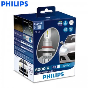 Philips LED 9005 9006 HB3 HB4 X-treme Ultinon LED Car Headlight 6000K Cool White