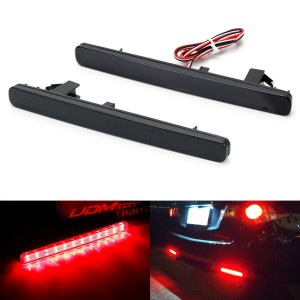 Smoked Lens 48-SMD LED Bumper Reflector Marker Lights For 2009-2014 Acura TSX