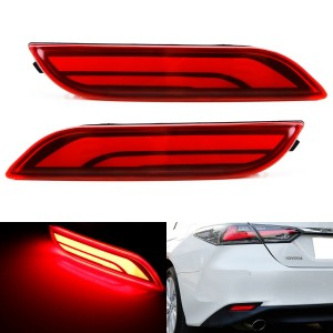 Red Lens Full LED Bumper Reflector Tail & Brake Lights For 2018-up Toyota Camry