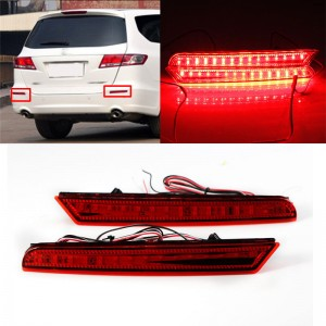 2X LED Rear Bumper Lamp Reflector Brake Lights Tail For Honda Odyssey 2009-2014