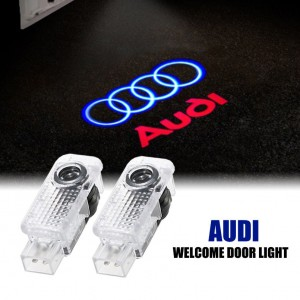 2X LED Car Door Light Logo Courtesy Projector Laser Ghost Shadow Light For Audi