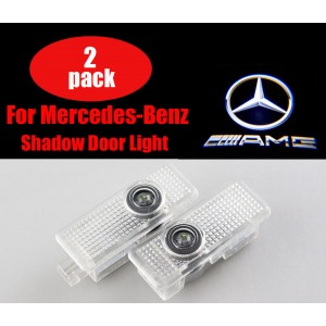 2pcs for Benz CLA CLS AMG Door Step Laser Courtesy Projector Ghost Shadow Light