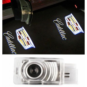 2 Welcome Courtesy Light LED Projector Lamp Ghost Shadow Door light For Cadillac