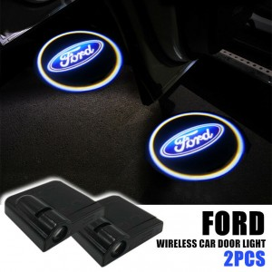 2Pcs Wireless CREE LED Car Door Logo Shadow Welcome Projector Light For Ford
