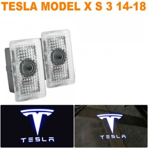 2X LED Car Door Courtesy Laser Ghost Shadow Lights For Tesla Model X/S/3 Logo