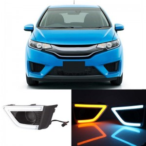 LED Daytime Running Light DRL For Honda Fit Jazz 2014-2016