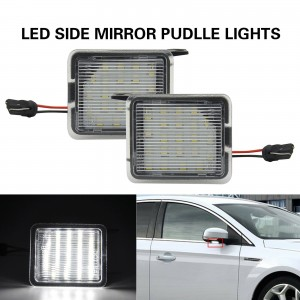 2x LED Side Mirror Puddle Light Door Shadow Lamp For Ford Focus C-Max Kuga Clear