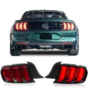 LED Tail Light For Ford Mustang 2015-2019 Red Lens Plug & Play